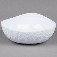 GET CS-1080-CN-W Coralline 2 Qt. White Melamine Freestyle Triangle Bowl - 3/Case
