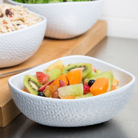 GET CS-1080-CN-W Coralline 2 Qt. White Melamine Freestyle Triangle Bowl - 3/Case
