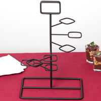 GET MTS-1496-BK Black Tower Dessert Shot Display Stand - 3/Case