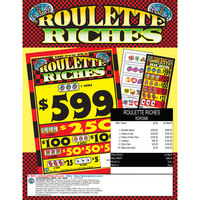 Roulette Riches 5 Window Pull Tab Tickets - 3996 Tickets Per Deal - $1399 Total Payout