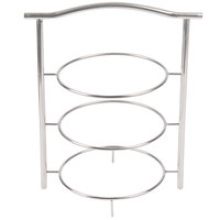 GET MTS-031-SS 3 Tier Stainless Steel Display Stand - 14 1/4 inch x 8 1/4 inch