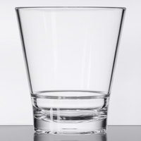 GET S-11-CL Revo 12 oz. Clear Customizable SAN Plastic Rocks Glass - 24/Case