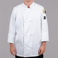 Chef Revival Bronze J050-3X Size 56 (3X) Customizable Double Breasted Chef Coat with Knot Cloth Buttons - Poly-Cotton Blend
