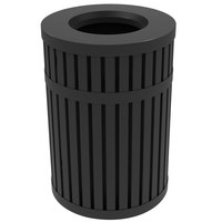 Commercial Zone 728001 ArchTec Parkview 45 Gallon Black Steel Outdoor Trash Receptacle