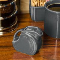 Homer Laughlin 475339 Fiesta Slate 5 oz. Mini Disc Creamer Pitcher - 4/Case