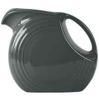 Homer Laughlin 484339 Fiesta Slate 2.1 Qt. Large Disc Pitcher - 2/Case