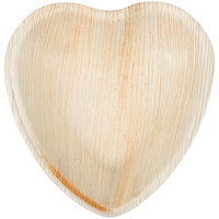 Eco-gecko Sustainable 4 1/2 inch Heart Palm Leaf Plate - 25/Pack