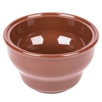 Carlisle 455328 8 oz. Lennox Brown Round Melamine Deep Salsa Bowl