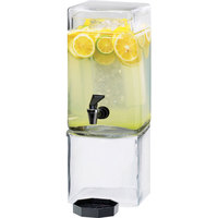 Cal-Mil 1112-1A 1.5 Gallon Square Acrylic Beverage Dispenser with Ice Chamber