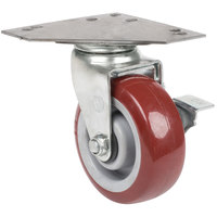 5 inch Swivel Caster with Brake and Large Caster Plate