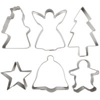 Ateco 4842 6-Piece Stainless Steel Christmas Cookie Cutter Set
