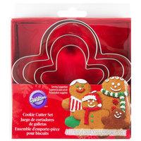 Wilton 2308-1239 4 Piece Metal Gingerbread Man Cookie Cutter Set