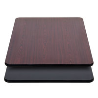 "Lancaster Table &amp&#x3b; Seating 30"" x 42"" Laminated Rectangular Table Top Reversible Cherry / Black"