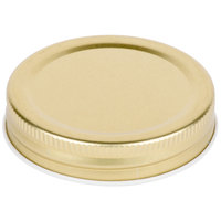 Acopa Gold Metal Drinking Jar Lid - 12/Pack