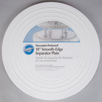 Wilton 302-4107 Decorator Preferred Round Smooth Edge Cake Separator Plate - 18 inch