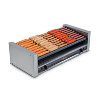 Nemco 8036SX-SLT Slanted Hot Dog Roller Grill with GripsIt Non-Stick Coating - 36 Hot Dog Capacity, 220V