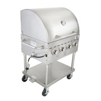 Backyard Pro C3H830DEL Deluxe 30 inch Stainless Steel Outdoor Grill with Roll Dome and Cover