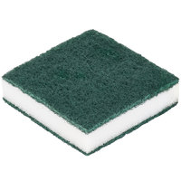 Scrubble By ACS 24-005B 3 1/2 inch x 3 1/2 inch Green Tough-Scour Nylon Soap Pad   - 20/Case