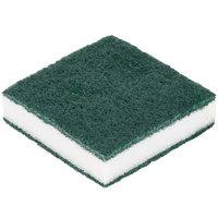 Scrubble By ACS 24-005B 3 1/2 inch x 3 1/2 inch Green Tough-Scour Nylon Soap Pad - 20/Case