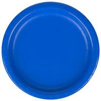 Creative Converting 793147B 7 inch Cobalt Blue Round Paper Plate - 240 / Case