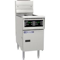 Pitco® SSH55-D Solofilter Solstice Supreme Natural Gas 40-50 lb. Floor Fryer with Digital Controls - 80,000 BTU