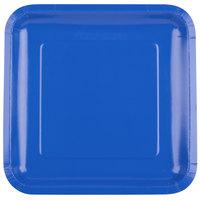 Creative Converting 463147 9 inch Cobalt Blue Square Paper Plate - 180/Case