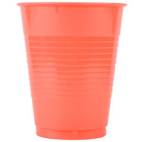 Creative Converting 28314681 16 oz. Coral Orange Plastic Cup - 240/Case