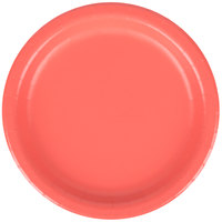 Creative Converting 793146B 7 inch Coral Orange Round Paper Plate - 240/Case