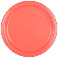 Creative Converting 473146B 9 inch Coral Orange Round Paper Plate - 240/Case