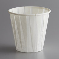 Genpak W450F Harvest Paper Compostable 3.5 oz. White Paper Souffle / Drinking Cup - 2500/Case