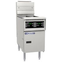Pitco SSH55TR-D Solofilter Solstice Supreme Liquid Propane 20-25 lb. Split Pot Floor Fryer with Digital Controls - 100,000 BTU
