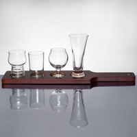 Libbey Variety Craft Brews Beer Flight with Red-Brown Paddle