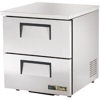 True TUC-27D-2-LP 27 inch Low Profile Undercounter Refrigerator with Two Drawers