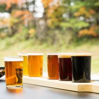Libbey Craft Brews Beer Flight Set - (6) 5 oz. Glasses with Natural Wood Paddle