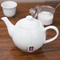 10 Strawberry Street B4528 Izabel Lam Pond 22 oz. White Bone China Teapot - 12/Case