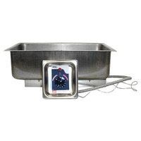 APW Wyott BM-30D UL Listed Bottom Mount 12 inch x 20 inch Hot Food Well with Drain - 120V, 750W