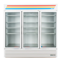 True GDM-72-HC~TSL01 White Glass Door Refrigerated Merchandiser with LED Lighting