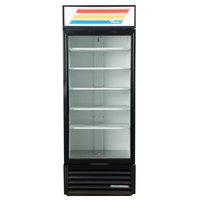 True GDM-26-HC~TSL01 Black Glass Door Refrigerated Merchandiser with LED Lighting