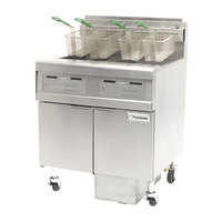 Frymaster FPGL130-C Liquid Propane 30 lb. Floor Fryer - 75,000 BTU