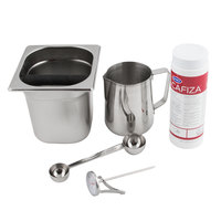 Barista Kit with 6 inch Knock Box and 20 oz. Urnex Cafiza Powder Container