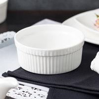 10 Strawberry Street WTR-5SUF Whittier 12 oz. White Porcelain Fluted Ramekin / Souffle - 48/Case