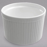 10 Strawberry Street WTR-4SUF Whittier 8 oz. White Porcelain Fluted Ramekin   - 48/Case