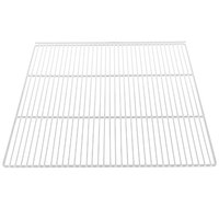 True 908793 White Coated Wire Shelf with 5 inch Standoff - 22 7/8 inch x 21 1/4 inch