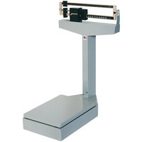 Cardinal Detecto 4527PK 350 lb. / 160 kg. Platform Bench Scale with Dual Measurement Readout