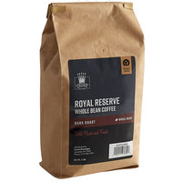 Crown Beverages 2 lb. Royal Reserve Dark Roast Whole Bean Coffee - 5/Case