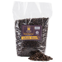 Crown Beverages Royal Reserve Guatemalan Whole Bean Dark Roast Coffee - (5) 2 lb. Bags / Case