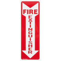 Buckeye Fire Extinguisher Adhesive Label - Red and White, 12 inch x 4 inch