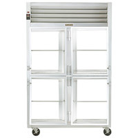 Traulsen G21006P 2 Section Glass Half Door Pass-Through Refrigerator - Right / Left Hinged Doors
