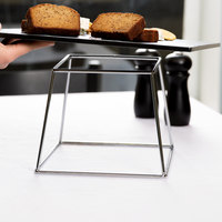 American Metalcraft DRCKC7 7 inch Stainless Steel Square Display Stand