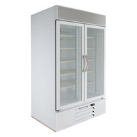 Beverage-Air MMR44HC-1-W MarketMax 47 inch White Two Section Glass Door Merchandiser Refrigerator - 45 cu. ft.